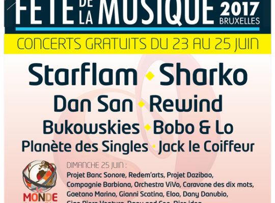 Le Monde des Possibles aux Fêtes de la musique à Liège ce 25 juin
